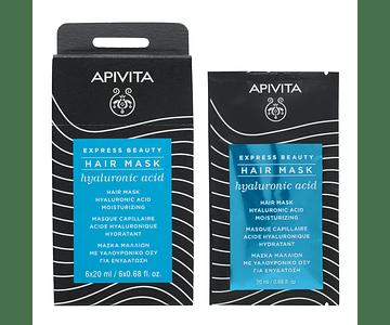Apivita Express Beauty Máscara Capilar Hidratante Com Ácido Hialurónico 20 mL