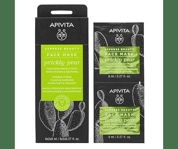 Apivita Express Beauty Máscara Hidratante & Calmante De Figo-Da-Índia  2x8 mL