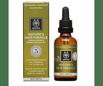 Apivita Óleo Capilar Fortificante & Energizante - Nature'S Hair Miracle 50 mL