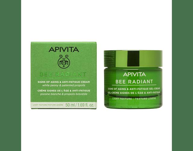 Apivita Bee Radiant Gel-Creme Sinais De Envelhecimento & Antifadiga Textura Ligeira  50 mL