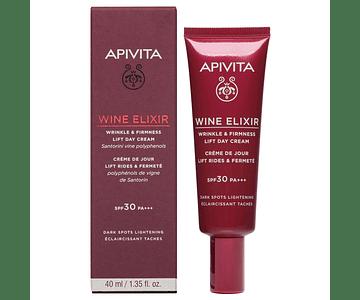 Apivita Wine Elixir Creme De Dia Antirrugas & Refirmante Com Efeito Lifting Spf30 40ml
