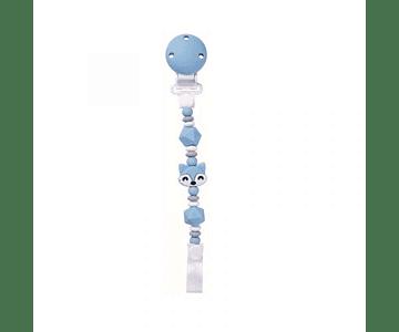 Saro Porta Chupeta Raposa - Azul
