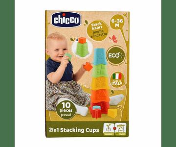 Chicco Brinquedo Copos Empilháveis 2 em 1 Eco+
