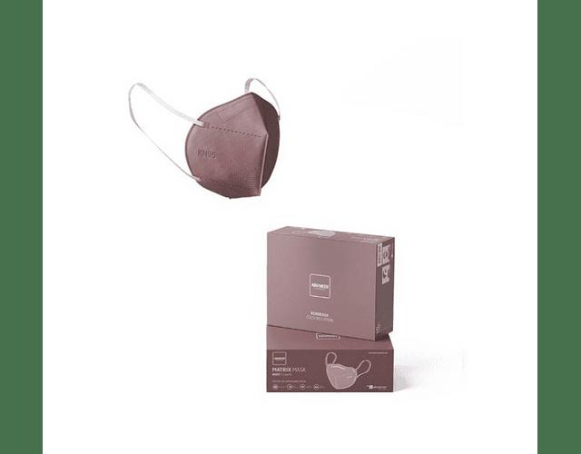 Máscara KN95 Bordeaux x5   (0.56€/máscara)