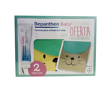Bepanthen Baby Pomada Muda Fralda 100g x 2 COM OFERTA Porta documentos