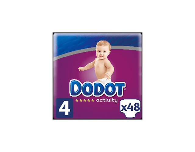 Dodot Activity Fraldas T4 9-14kg x48