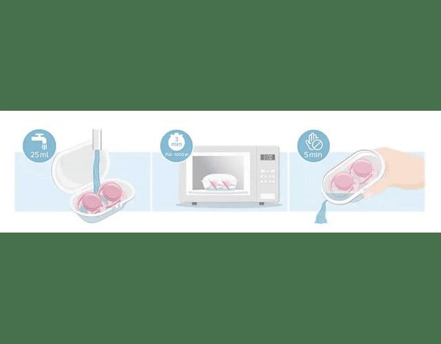 Philips Avent Chupetas Ultra Air 6-18 meses Rosa Simples