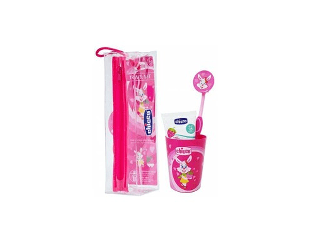 Chicco Conjunto Higiene Oral Menina 3-6 Anos