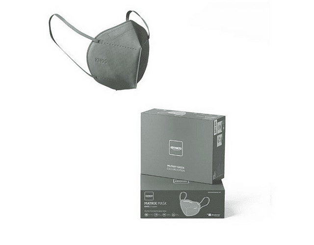 Máscara KN95 Verde Tropa x5   (0.56€/máscara)