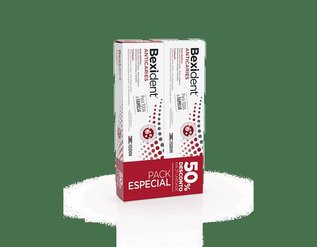Bexident Anticáries Pasta Dentífrica c/ Desconto 50% 2ª Embalagem 75mL x 2