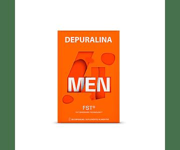 Depuralina 4 Men Cápsulas Queima-Gorduras 60 unidades