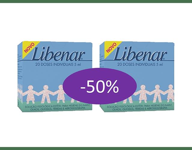 Libenar Baby Duo Soro Fisiológico 20 Unidade(s) com Desconto de 50% na 2ª Embalagem