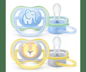Philips Avent Chupetas Ultra Air 0-6 meses Elefante / Leão