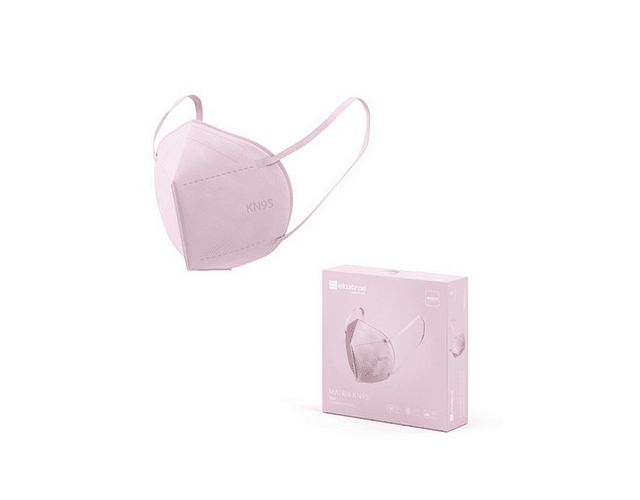 Máscara KN95 Rosa x5   (0.56€/máscara)