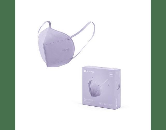 Máscara KN95 Purple x5   (0.56€/máscara)