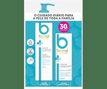 Barral Dermaprotect Creme Banho 500 mL + Creme Hidratante 400 mL (-30%)