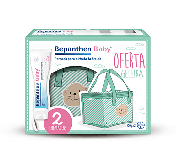 Bepanthen Baby Pomada Muda Fralda 100g x 2 COM OFERTA Geleira