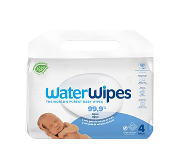 WaterWipes Pack Toalhitas BIO para Bebé 4 x 60 unidades