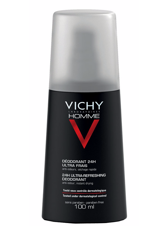 Vichy Homme Desodorizante Spray 24 horas 100mL