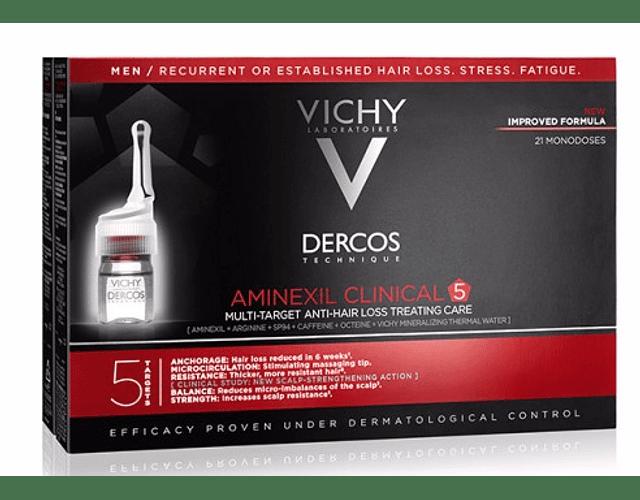 Vichy Dercos Aminexil Clinical Homem 21 ampolas