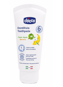 Chicco Pasta de Dentes Maçã-Banana +6 meses 50 mL