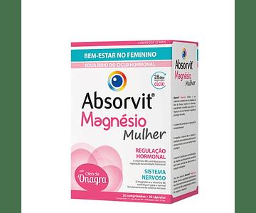 Absorvit Magnésio Mulher Duo 30 Comprimidos + 30 Cápsulas