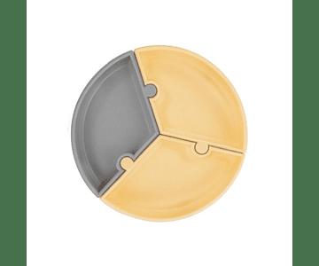 Minikoioi Prato Puzzle - Cinza e Amarelo