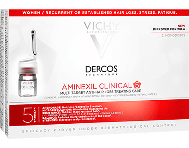 Vichy Dercos Aminexil Clinical Mulher 21 ampolas
