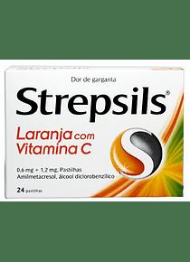 Strepsils Laranja com Vitamina C 24 pastilhas
