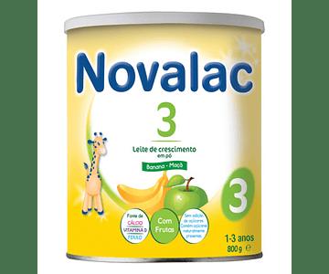 Novalac 3 Leite de Crescimento Banana Maça 800g