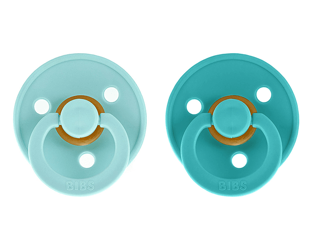Chupetas BIBS 6-18m Mint/Turquoise x2