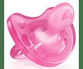Chicco Chupeta Physio Soft Silicone 0-6 meses Rosa