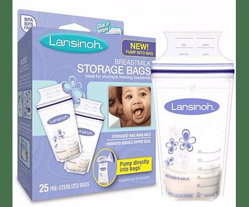 Lansinoh Sacos de Leite Materno 25 unidades