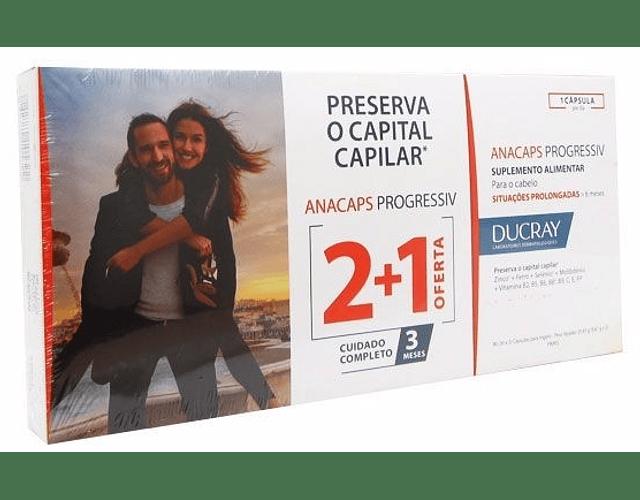 Ducray Anacaps Progressiv 3 x 30 cápsulas