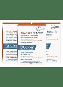 Ducray Anacaps Reactiv 3 x 30 cápsulas