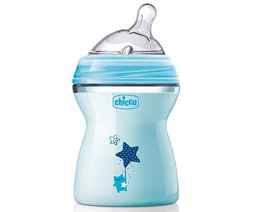 Chicco Biberão Natural Feeling +2 meses 250 mL Azul