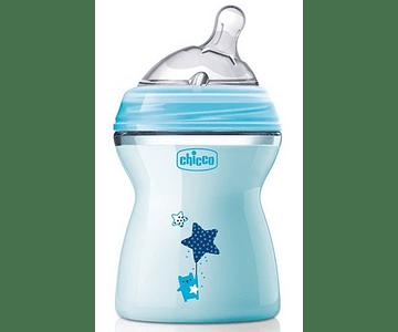 Chicco Biberão Natural Feeling +2 meses 250 mL Azul