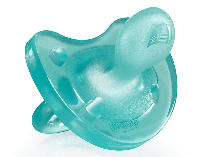 Chicco Chupeta Physio Soft Silicone 6-12 meses Azul