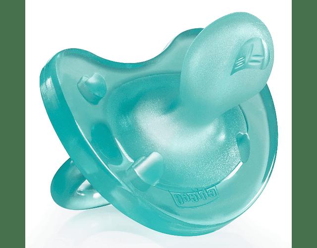 Chicco Chupeta Physio Soft Silicone 16-36 meses Azul