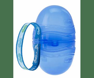 Chicco Porta Chupeta Duplo Azul