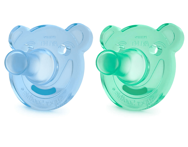 Philips Avent Soothies Chupetas de Silicone 0-3 meses 2 unidades