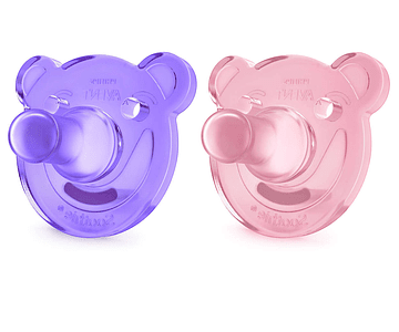 Philips Avent Soothies Chupetas de Silicone +3 meses 2 unidades