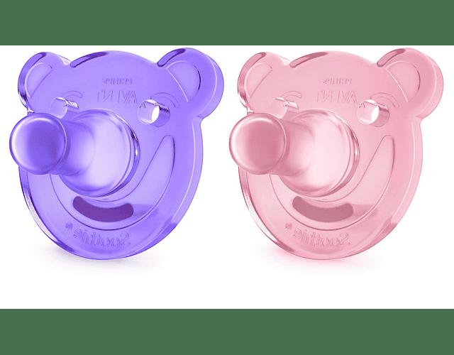 Philips Avent Soothies Chupetas de Silicone +3 meses 2 unidades