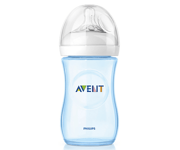 Philips Avent Biberão Natural 260 mL Azul 1m+ 2 gotas