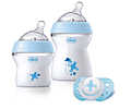 Chicco Conjunto Natural Feeling +0 meses Azul