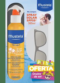 Mustela Solar Spray50+ 300 mL + Óculos de sol (OFERTA)
