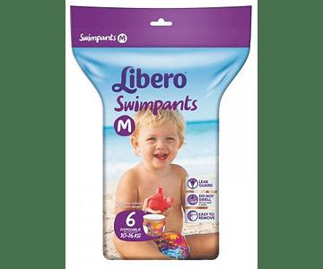 Libero Swimpants Fralda 10-16kg Tamanho M 6 unidades