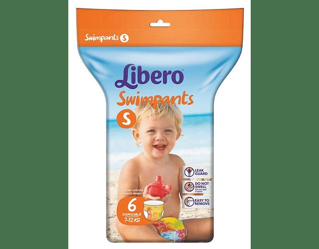 Libero Swimpants Fralda 7-12kg Tamanho S 6 unidades