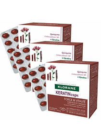 Klorane Keratin Cápsulas Fortificantes 3 x 30 unidades