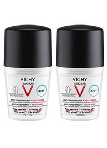 Vichy Homme Deo Roll-On Antimanchas 48 horas 50 mL Duo